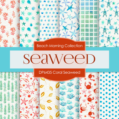 Coral Seaweed Digital Paper DP6435