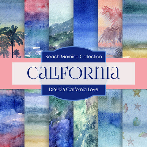 California Love Digital Paper DP6436