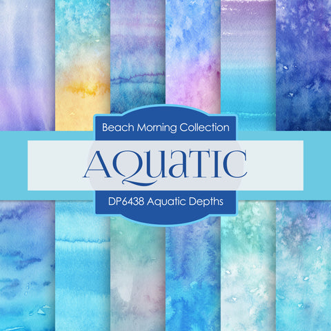 Aquatic Depths Digital Paper DP6438