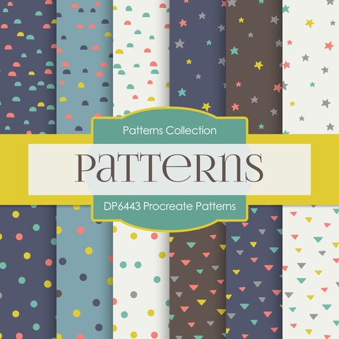 Procreate Patterns Digital Paper DP6443
