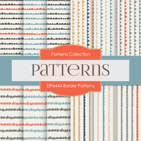 Border Patterns Digital Paper DP6444