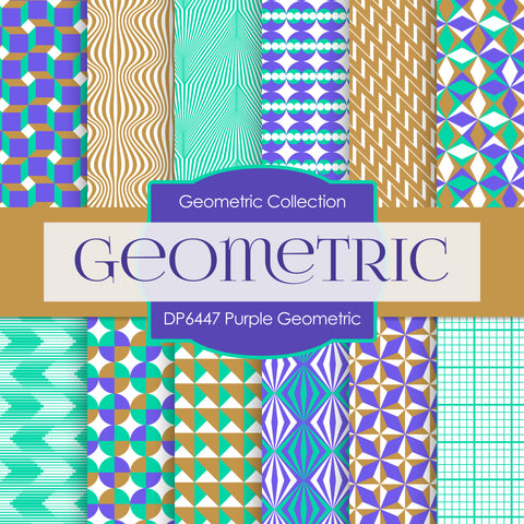 Purple Geometric Digital Paper DP6447