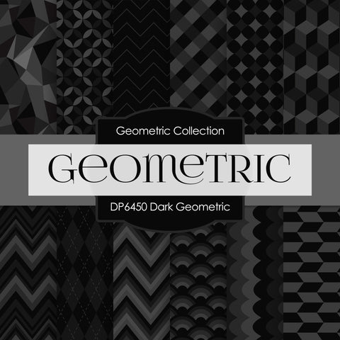 Dark Geometric Digital Paper DP6450