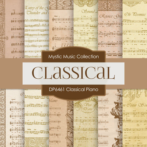 Classical Piano Digital Paper DP6461