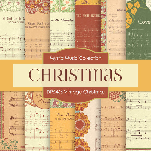Vintage Christmas Digital Paper DP6466