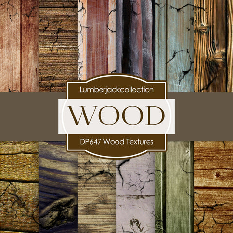 Wood Textures Digital Paper DP647 - Digital Paper Shop - 1