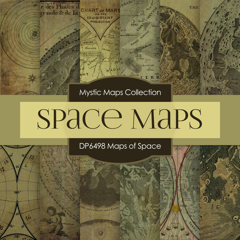 Maps of Space Digital Paper DP6498