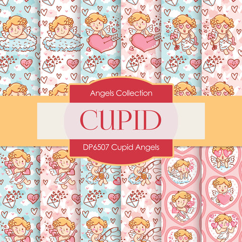 Cupid Angels Digital Paper DP6507