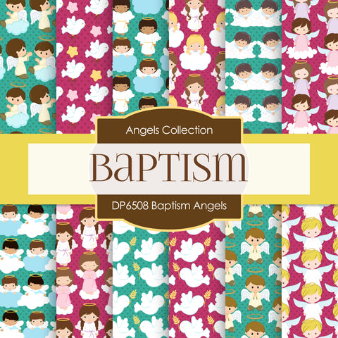 Baptism Angels Digital Paper DP6508