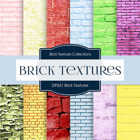 Brick Textures Digital Paper DP651A - Digital Paper Shop - 1