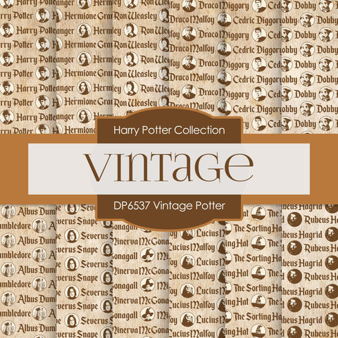 Vintage Potter Digital Paper DP6537