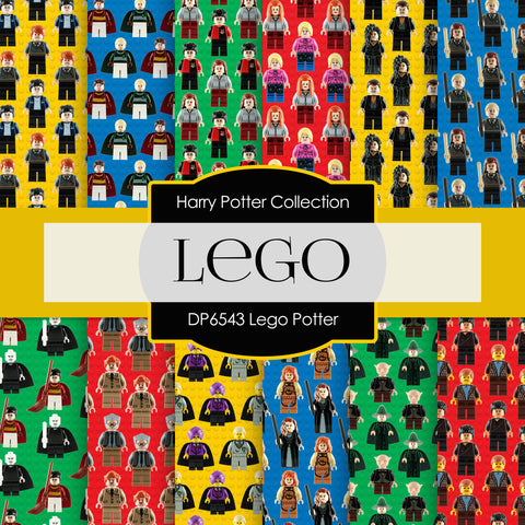 Lego Potter Digital Paper DP6543