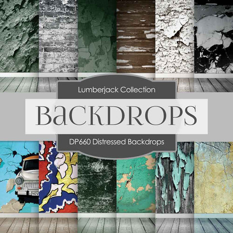 Distressed Backdrops Digital Paper DP660 - Digital Paper Shop - 1