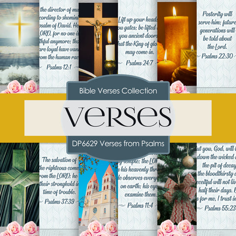Verses From Psalms Digital Paper DP6629