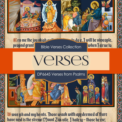 Verses From Psalms Digital Paper DP6645