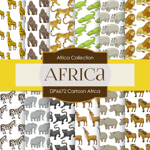 Cartoon Africa Digital Paper DP6672