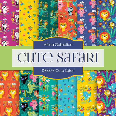 Cute Safari Digital Paper DP6673