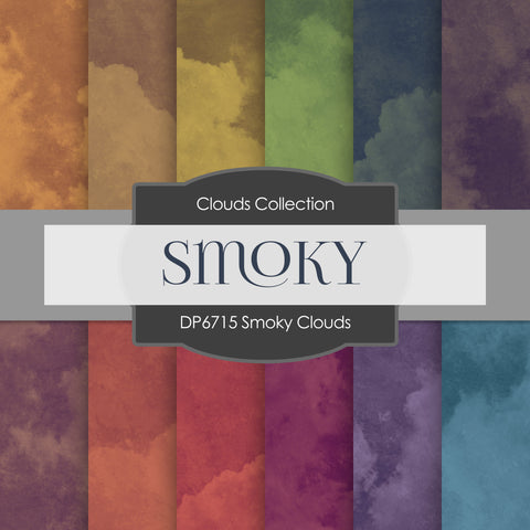 Smoky Clouds Digital Paper DP6715