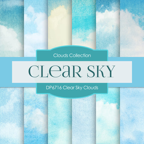 Clear Sky Clouds Digital Paper DP6716