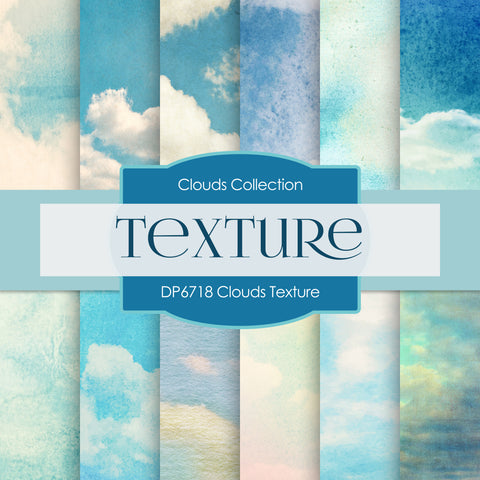 Clouds Texture Digital Paper DP6718