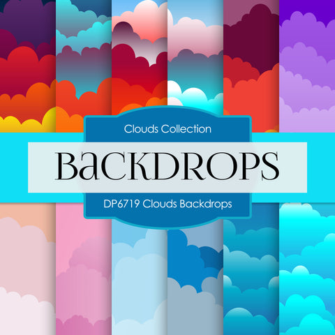 Clouds Backdrops Digital Paper DP6719