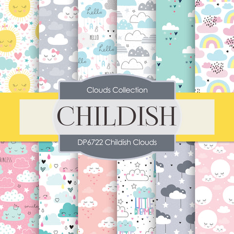 Childish Clouds Digital Paper DP6722
