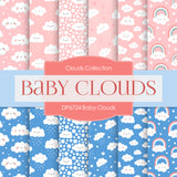 Baby Clouds Digital Paper DP6724
