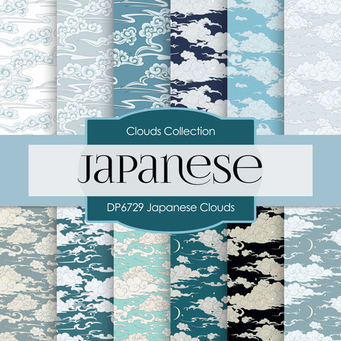 Japanese Clouds Digital Paper DP6729