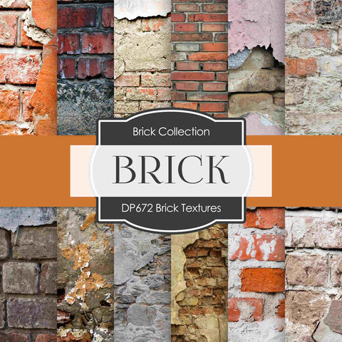 Brick Textures Digital Paper DP672 - Digital Paper Shop - 1