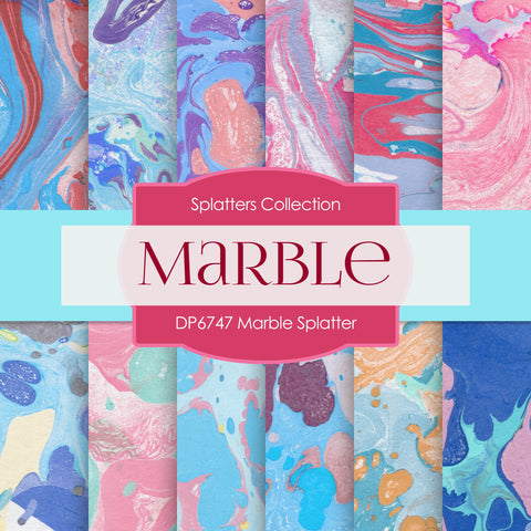Marble Splatter Digital Paper DP6747
