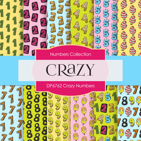 Crazy Numbers Digital Paper DP6762