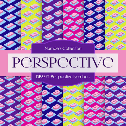 Perspective Numbers Digital Paper DP6771