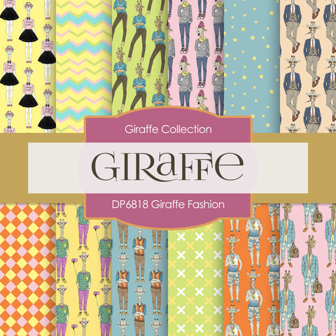 Giraffe Fashion Digital Paper DP6818