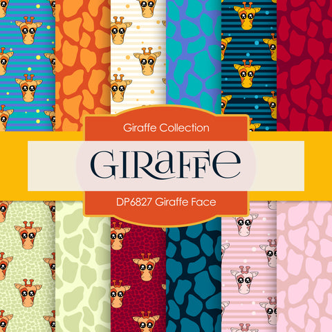 Giraffe Face Digital Paper DP6827