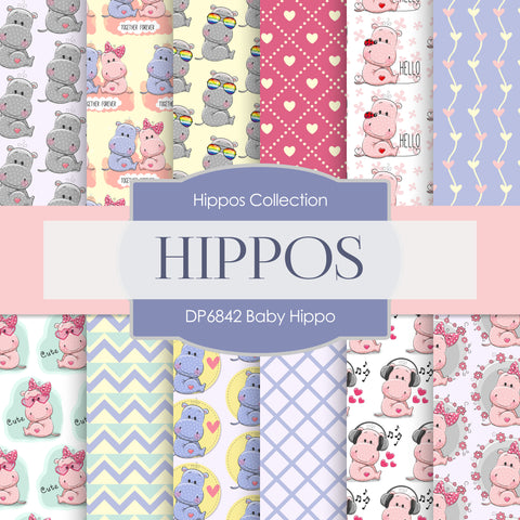 Baby Hippo Digital Paper DP6842