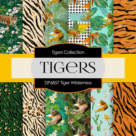 Tiger Wilderness Digital Paper DP6857