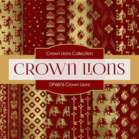 Crown Lions Digital Paper DP6876