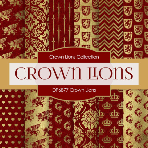Crown Lions Digital Paper DP6877
