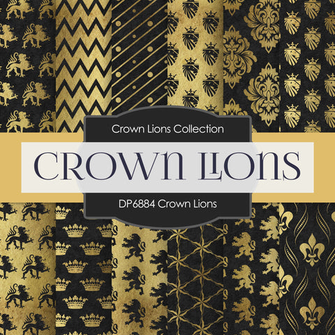 Crown Lions Digital Paper DP6884