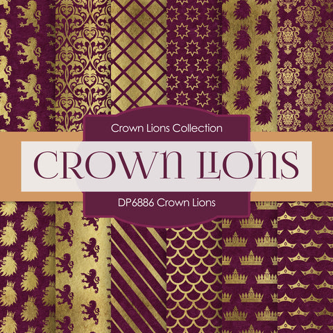 Crown Lions Digital Paper DP6886