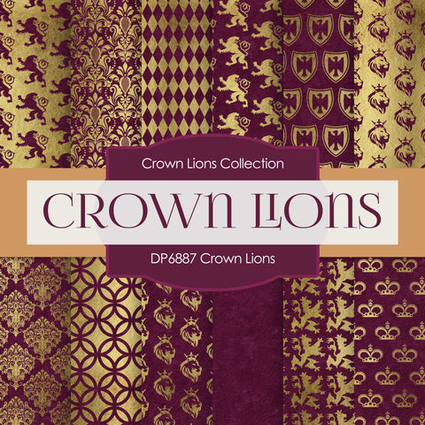 Crown Lions Digital Paper DP6887
