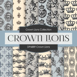 Crown Lions Digital Paper DP6889