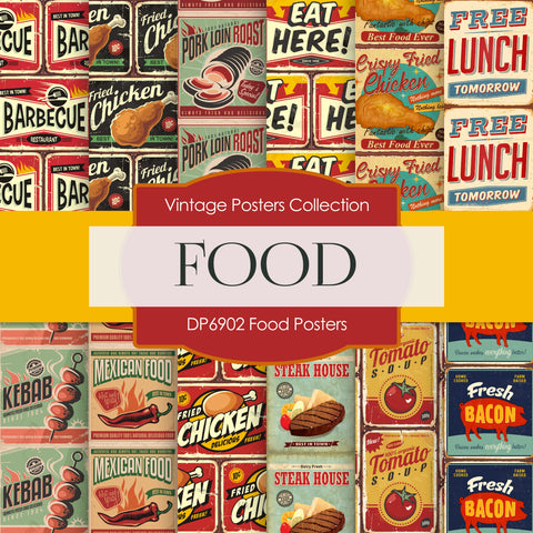Food Posters Digital Paper DP6902