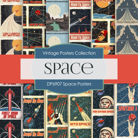 Space Posters Digital Paper DP6907