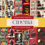 Cinema Posters Digital Paper DP6912