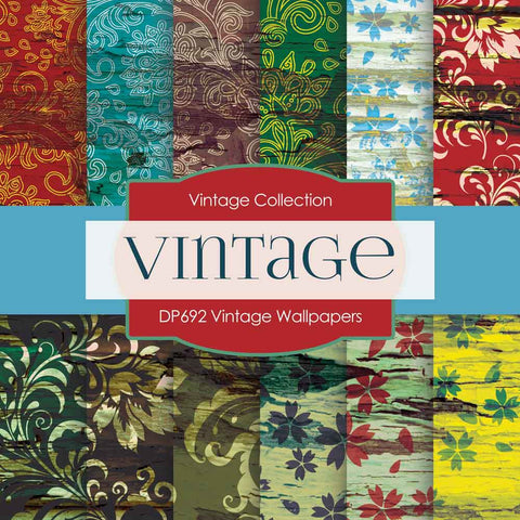 Vintage Wallpapers Digital Paper DP692 - Digital Paper Shop - 1