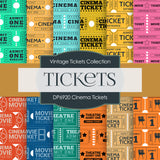 Cinema Ticket Digital Paper DP6920