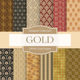Gold Paper Digital Paper DP696 - Digital Paper Shop - 1