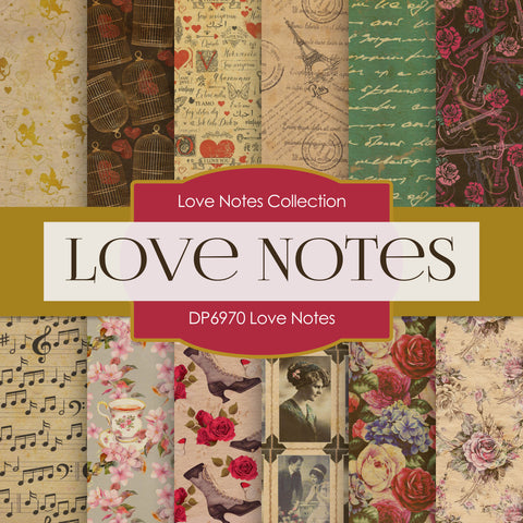 Love Notes Digital Paper DP6970