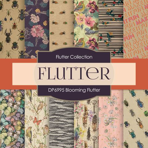 Blooming Flutter Digital Paper DP6995